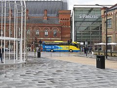 Stansted Airport to London, Citylink Express Coach. (ManOfYorkshire) Tags: road blue trafficlights bus station yellow train coach airport working railway competition international service express kingscross stpancras stansted concourse citylink mecedes comfortdelgro toursimo