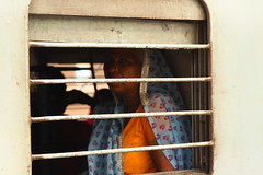 Delhi - Hazrat Nizamuddin railway station (Claudio Nichele) Tags: portrait people india face train delhi inspiring