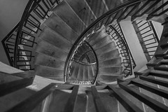 Loveless Staircase (from above) (scarlet-pimp) Tags: greatbritain england blackandwhite london monochrome architecture spiral concrete mono spring estate modernism staircase 1957 canon5d timeout spiralstaircase councilestate bertholdlubetkin socialhousing londonist 9thfloor treppenauge georgelovelesshouse georgeloveless dissstreet councilhomes canon5dmarkiii bbcengland