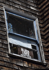 _DSC2844-goodbye-prince-and-for-all-black-lives-f (posyche) Tags: window sign berkeley shingles prince weathered blacklivesmatter