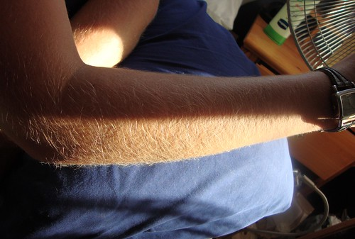 forearms blonde hairy