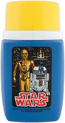 1977 Star Wars lunchbox - thermos (Tom Simpson) Tags: starwars r2d2 c3p0 1970s 1977 thermos threepio artoo