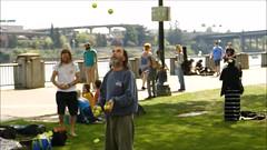 Five Ball Juggle - Slow Mo Video (swong95765) Tags: park man fun demonstration talent unusual juggling slowmotion fiveball