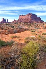 Monument Valley at sunrise (Nathalie Stravers) Tags: arizona usa nature sunrise landscape dessert utah nationalpark olympus monumentvalley omd natstravers