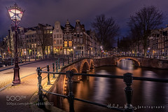 Emperor's Lantern (l3v1k) Tags: street city travel blue light sky urban holland water netherlands amsterdam architecture night clouds michael europe north nederland nl van der grachten keizersgracht burg 500px wbpa stadsregio ifttt