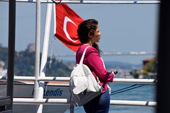 Bosphorus Bridge (D. P. S.) Tags: bridge girl bosphorus turkeyflag
