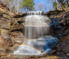 Buttermilk Sunbow (bob stough) Tags: waterfalls rainbows mountainstreams buttermilkfallspark sunbows