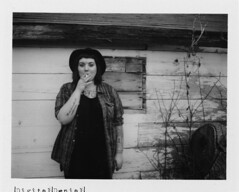 (|Digital|Denial|) Tags: old portrait blackandwhite film analog polaroid tattoos fujifilm weathered punx expired dilapidated instantphotography polaroidweek fp3000b roidweek automaticlandcamera