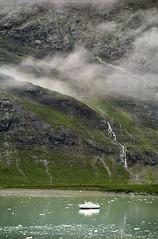 Expedition Ship in Glacier Bay 1 (Don Thoreby) Tags: usa mist mountains ice alaska cliffs waterfalls peaks glacierbay alaskancruise glacierbaynationalpark sunprincess expeditionboat princesslines tidewaterglaciers