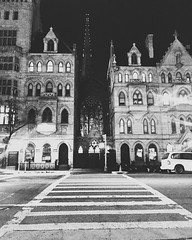 (jplangpictures) Tags: nyc bw eastvillage church crosswalk gracechurch