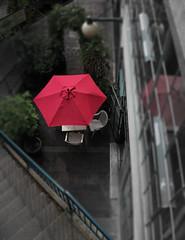Pike Place Market Cafe (mechaZardoz) Tags: summer umbrella cafe market patio pikeplace