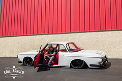 Razor Richie (Eric Arnold Photography) Tags: auto las vegas car sport vw magazine volkswagen shoot industrial photoshoot nevada low racing nv type vehicle custom rider 34 lowered feature razor ghia karmannghia karmann volksamerica