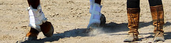 Boots & Hooves (ATouchofCrazy) Tags: horse boots dirt dust cowboyboots hooves ridingboots hdphotography bootsandhearts