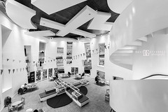 """Learning Curve"" Clapham Library, London, UK (davidgutierrez.co.uk) Tags: city uk greatbritain travel light england people urban blackandwhite bw white abstract black building london art public monochrome beautiful architecture stairs buildings photography reading lights design blackwhite nikon europe cityscape photographer unitedkingdom britain interior library capital arts structure londres londonunderground clapham londra publiclibrary blackandwhitephotography centrallondon  londyn ultrawideangle    londonboroughoflambeth claphamhighstreet d810 nikond810 1424mm davidgutierrez londonphotographer claphamlibrary afsnikkor1424mmf28ged davidgutierrezphotography maryseacolecentre"