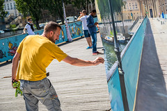 En Plein Air Artist (Serendigity) Tags: city bridge paris france art seine river painting artist workinprogress enpleinair