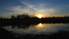 Sunset (mih.mih4) Tags: sunset sky sun nature canon countryside spring pond village sundown