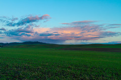 Clouds and Fields (Eli Nelson) Tags: sunset color green clouds canon eos spring hills 7d ef24105