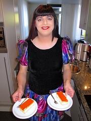 Left or right (Paula Satijn) Tags: blue girl cake shiny dress silk skirt tgirl transvestite pastry satin miniskirt tompouce gulr