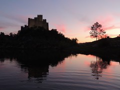 Castelo do Almourol (Salete G) Tags: rio do castelo tejo entardecer almourol saleteg