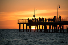 Sunset, Glenelg (Ian Dodd) Tags: ocean sunset pier adelaide glenelg