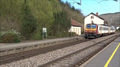 CFL Trainset N 2019 in the station of Kautenbach. (Franky De Witte - Ferroequinologist) Tags: de eisenbahn railway estrada chemin fer spoorwegen ferrocarril ferro ferrovia