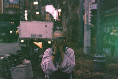 ( / LINUS) Tags: street film nikon f100 snap taipei filmcamera buddhistmonk longshantemple