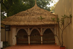 """Rajwar"" Hut of Chattisgarh, at Crafts Museum, New Delhi (ilovethirdplanet) Tags: india delhi hut ind"