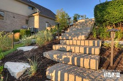 Natural stone stairway (elementallandscapes) Tags: pool landscape planters landscaping steps patio deck leds firepit retainingwall pooldeck landscapelighting unilock paverpatio landscapeideas customconcrete concreteplanters ingroudpool paverpooldeck unilockpavers ingrainedpool elementallandscapes unilocklineo unilockartline
