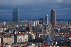 DSC_0892 (Samolymp) Tags: panorama skyline skyscraper tour lyon crayon 3e incity partdieu oxygne lyonnais crdit