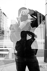 reflected (eb78) Tags: sf sanfrancisco ca blackandwhite bw reflection monochrome streetphotography grayscale greyscale midmarket