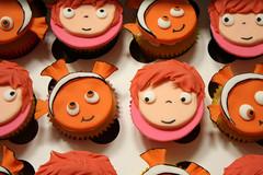Nemo and Ponyo cupcakes (Tramie's Kitchen) Tags: cake nemo cupcake ponyo