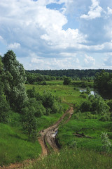 The road to Russia (aaBocharov) Tags: road trees summer sky green nature clouds forest river landscape russia
