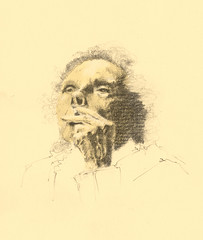 Leonora Carrington (LauraOspinaMontoya) Tags: dibujo carrington lpiz leonora