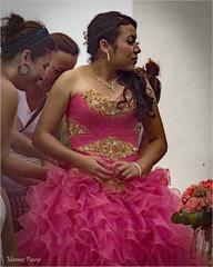 Mexican princess (marneejill) Tags: pink woman princess smiles celebration mexican attractive regal primping