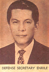 Enrile becomes Secretary of National Defense (Presidential Museum and Library) Tags: martiallaw