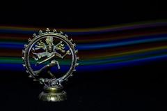 Natraj (Sanjeev Sampath) Tags: lightpainting black blackbackground dance spectrum background lord shiva nataraja natraj tandav