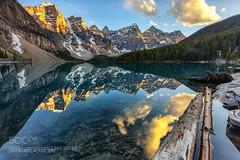 LOG OUT (Waubble) Tags: park chris lake canada landscape rockies glow canadian national alberta banff alpen moraine acaso bisdak 500px babida ifttt