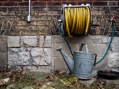 hose and watering can ((robcee)) Tags: urban toronto ontario canada color green church yellow rock stone decay stonework bricks masonry bowl hose queen wateringcan conduit fragment leslieville geolocation 2016 carlaw geo:state=ontario geo:country=canada geo:city=toronto camera:make=olympusimagingcorp exif:make=olympusimagingcorp exif:aperture=32 exif:lens=olympusm17mmf18 camera:model=em1 exif:model=em1 exif:isospeed=200 exif:focallength=17mm geo:lon=79335705555555 geo:lat=43662183333333