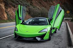 parking spot doors (hushypushy) Tags: up wings doors open marin mclaren headlands 570s mantisgreen
