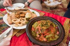Essaouira - Morrocan seafood dinner (Thomas G. from U.) Tags: africa food fish essen morocco maroc maghreb seafood essaouira marokko mogador almaghrib kingdomofmorocco northwestafrica  mogadore moroccancuisine   thewesternkingdom asawra taurt almamlakahalmaghribiyah regionofwesternnorthafrica marrakeshsafi  313047n94611w