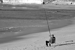 Beach (andreaalonso96) Tags: fish beach fishing spain alone loneliness galicia caa pescar nigrn