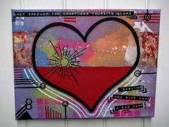 Shot through the heart... (id-iom) Tags: uk england urban london art graffiti stencil paint shot heart song arts spray spraypaint brixton bonjovi blame idiom earworm shotthroughtheheart aerosolpaint