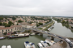 View from the tower - Aigues-Mortes (rfzappala) Tags: france tower europe languedoc mortes aiguesmortes aigues 2015 matafere