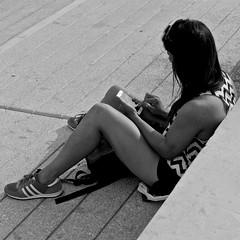Looking for the way (pedrosimoes7) Tags: portugal lisbon candid cc creativecommons terreirodopao streetpassionaward blackwhitepassionaward