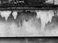 (MAGGY L) Tags: bw lyon noiretblanc traces mur damp humidit dmcfz200