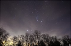 Orion Rising (LeisurelyScientist.com) Tags: trees sky night clouds timelapse glow space tripod science filter astrophotography sirius orion betelgeuse rigel astronomy nightsky canismajor constellation astronomer tiffen procyon skyglow canisminor canon6d tomwildoner