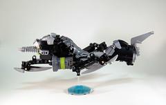 Lesovikk's Sea Sled - Flight Side (0nuku) Tags: green underwater lego air submarine master vehicle g2 glider bionicle toa 2015 faxon uniter ccbs mahrinui lesovikk karzahni ussanui