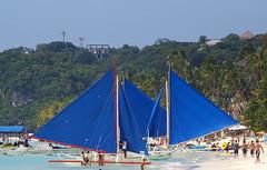 Sailing Boats (Paraw), Boracay, Western Visayas, Philippines (Darius Travel Photography) Tags: pentax philippines boracay filipinas pilipinas boracayisland    pentaxk100dsuper   filipinai