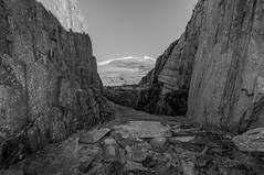 Snowdon from Rhyd Ddu Quarry (PSHiggins) Tags: cliff snow wales landscape rocks peak cliffs climbing snowdon welsh snowdonia crags quarry eryri crag northwales rhydddu welshmountain