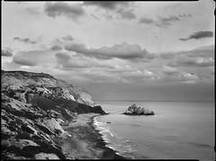 Petra Tou Romiou  x-ray film (Thodoris Tzalavras) Tags: blackandwhite bw landscape photography wind cyprus cy 18x24 xrayfilm rittreckview fujinonw250